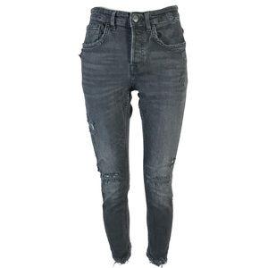 Zara jeans 31x27 distressed